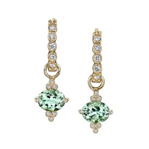 Green Amethyst Gum Drop Earrings